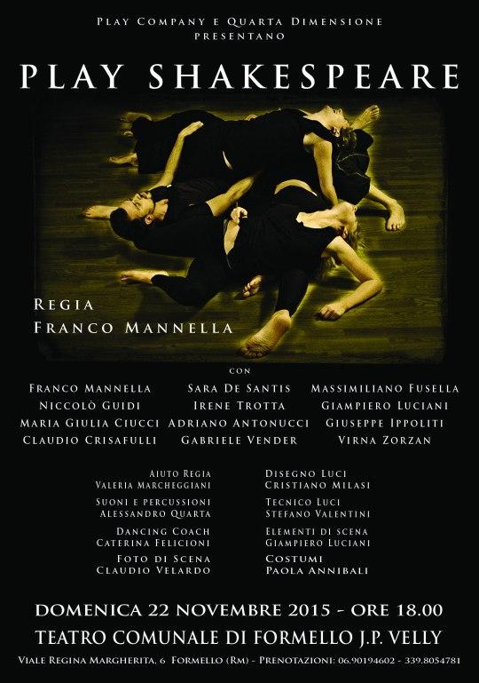 Locandina Play Shakespeare 2015