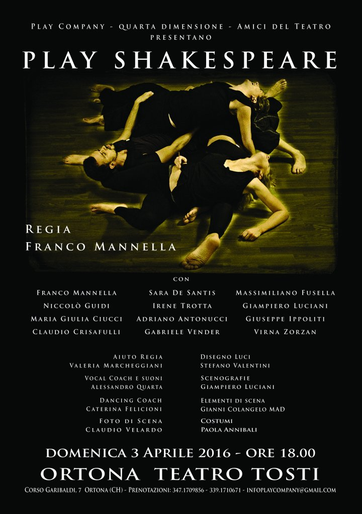 Locandina Play Shakespeare ORTONA2016